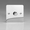 Ultraflat Polished Chrome 1-Gang 2-Way Push-On/Off Rotary Dimmer 1 x 60-400W