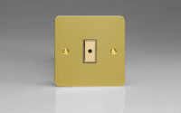 Ultraflat Brushed Brass 1-Gang 1-Way Remote/Tactile Touch Control Master LED Dimmer 1 x 0-100W (1-10 LEDs)