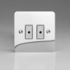 Ultraflat Polished Chrome 2-Gang 1-Way Remote/Tactile Touch Control Master LED Dimmer 2 x 0-100W (1-10 LEDs)