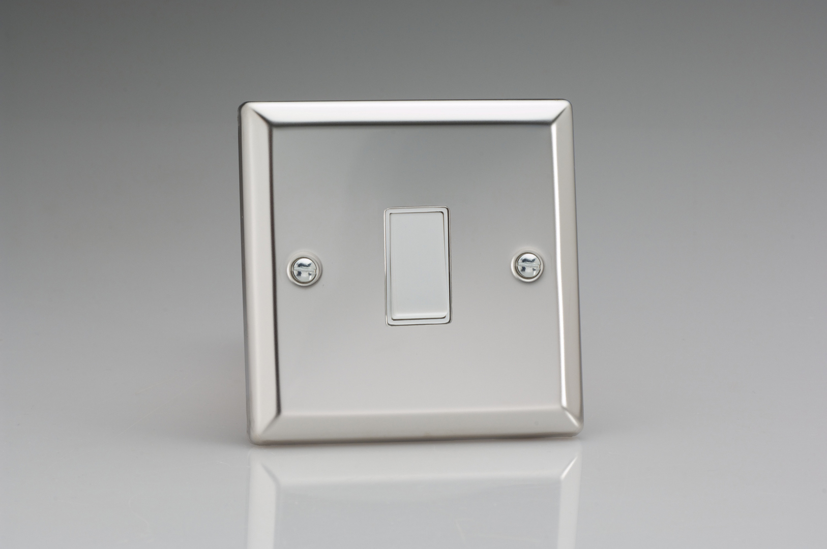 Classic Mirror Chrome 1 Gang 10a Retractive Switch Socket 2 Way