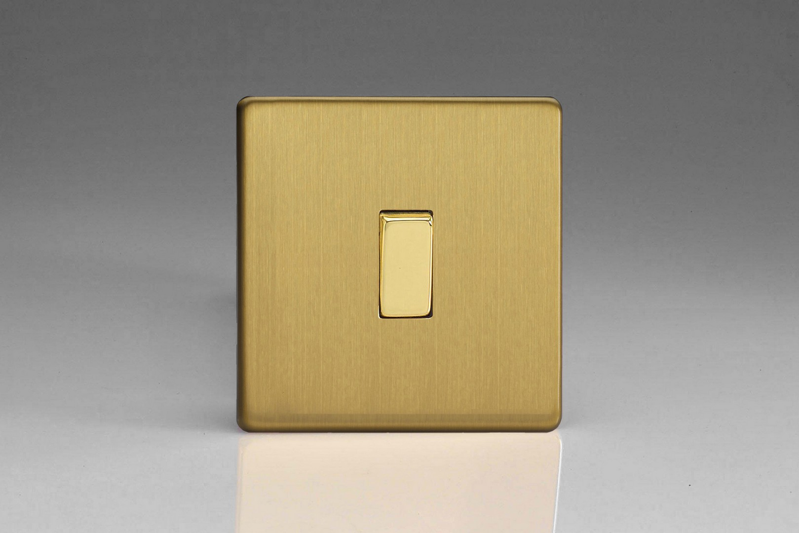 Flat Plate Screwless Brushed Brass 1 Gang 10a 1 Or 2 Way Rocker Switch Switch Socket And Supplies