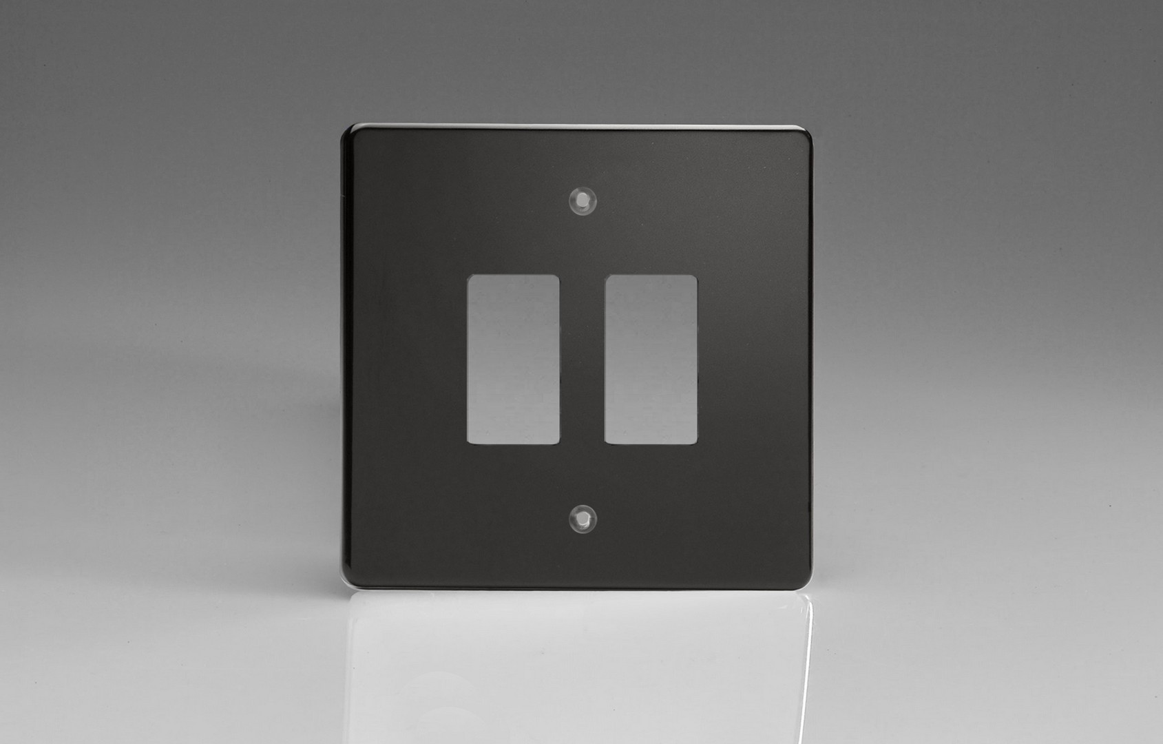 Switch Faceplate Jet Black 2Gang Grid Plate Single Plate Faceplate  Switch