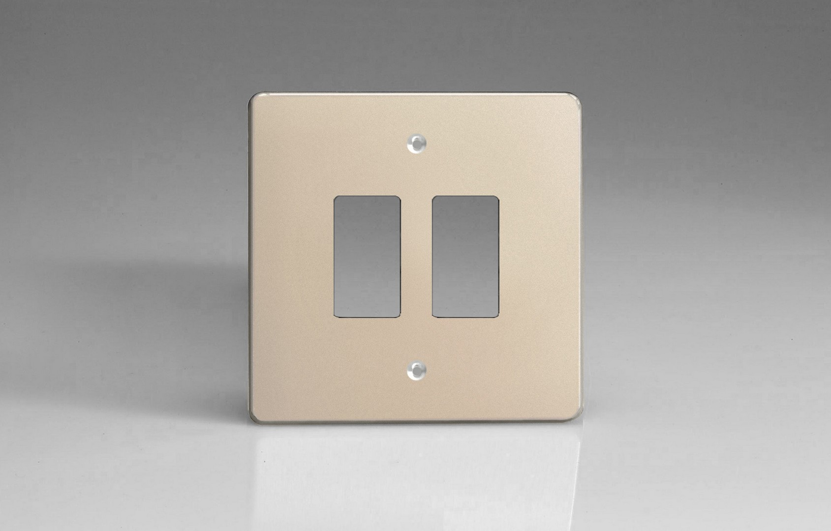 Switch Faceplate Satin Chrome 2Gang Grid Plate Single Plate Faceplate  Switch