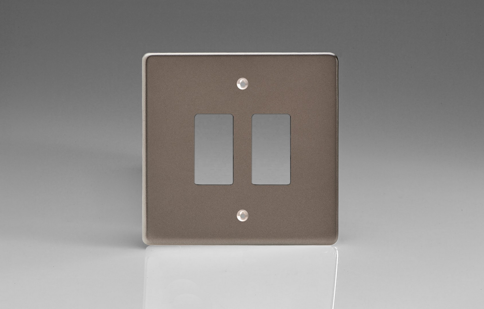 Switch Faceplate Pewter 2Gang Grid Plate Single Plate Faceplate  Switch Socket