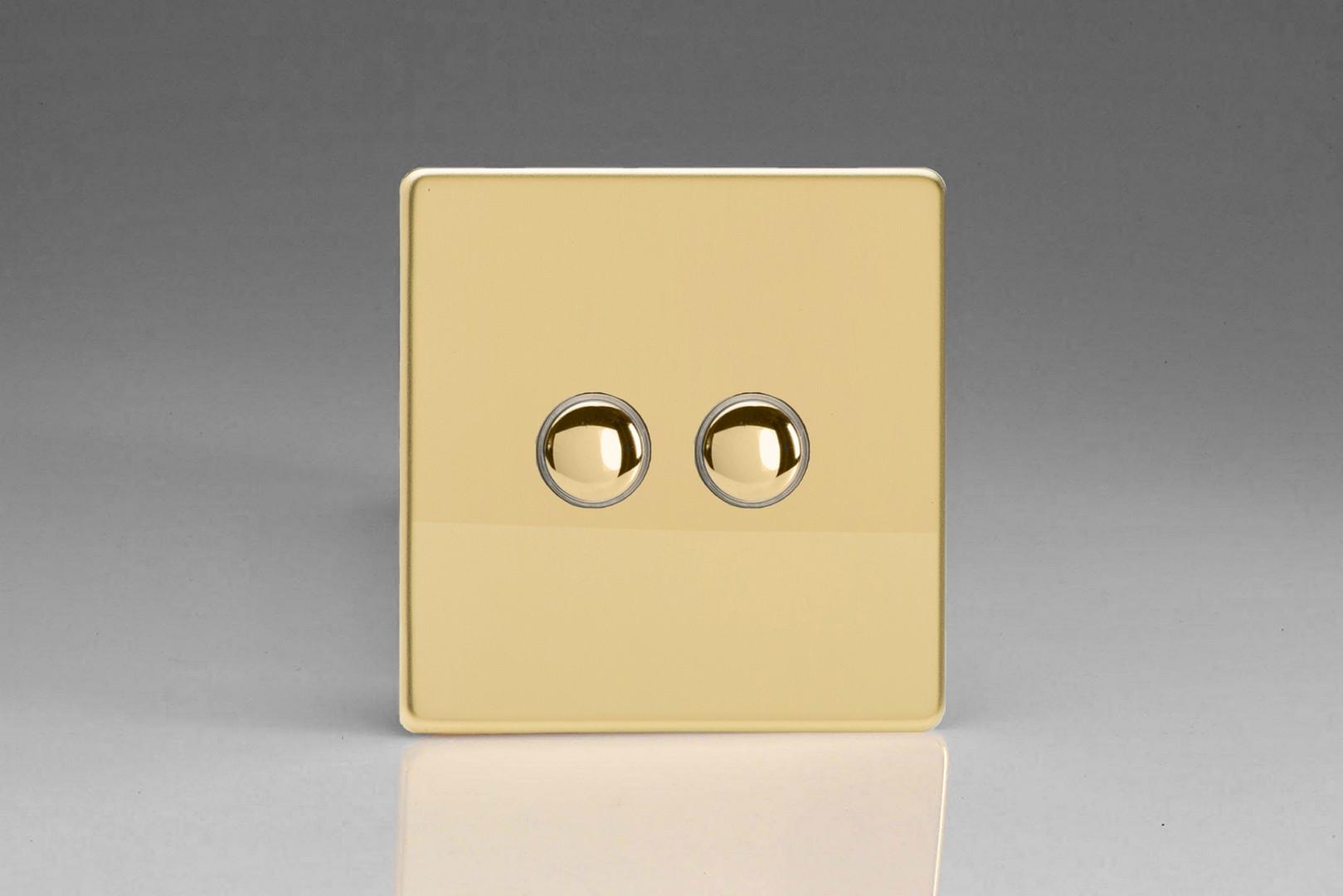 Flat Plate Screwless Polished Brass 2