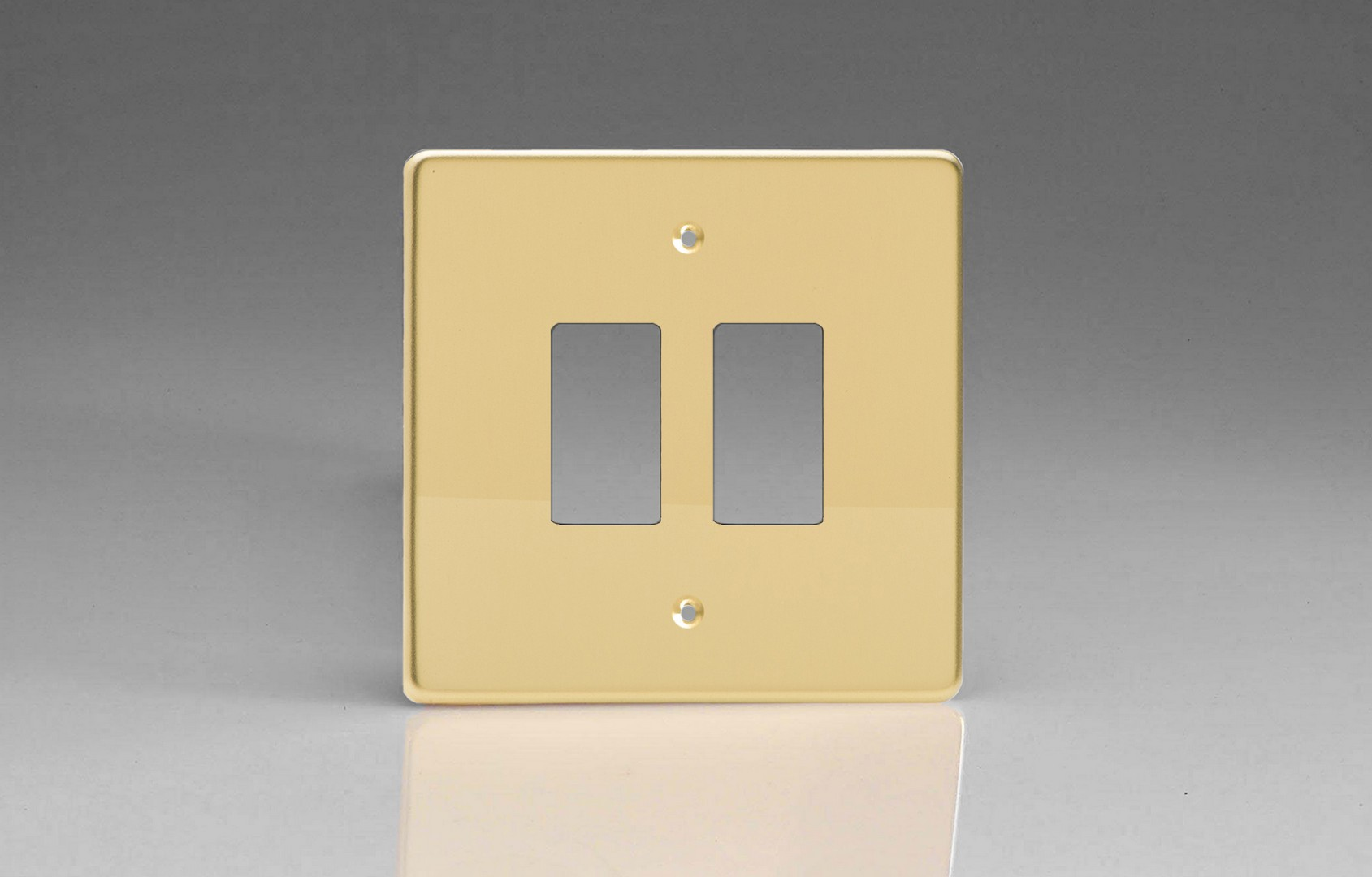 Switch Faceplate Polished Brass 2Gang Grid Plate Single Plate Faceplate  Switch