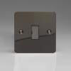 Ultraflat Iridium Black 13A Unswitched Fused Spur with Metal Inserts