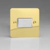 Ultraflat Polished Brass 10A Fan Isolating Switch (3 Pole)