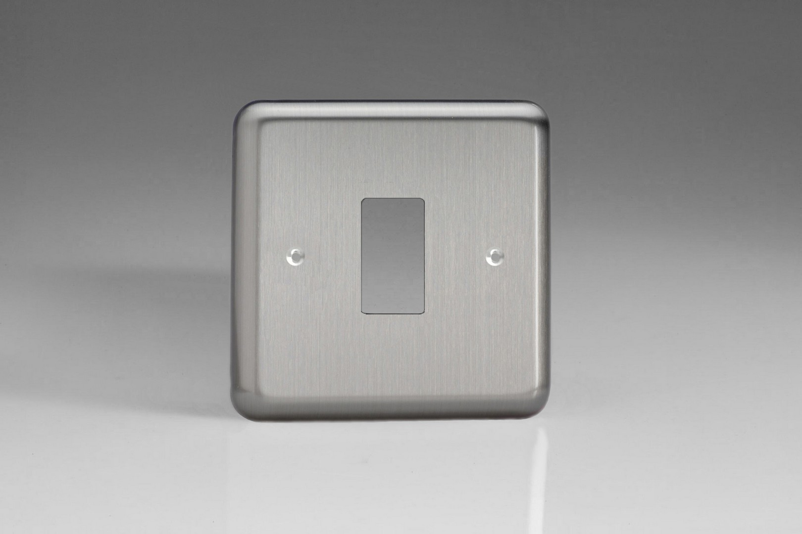 Switch Faceplate Classic Matt Chrome 1Gang Grid Plate Single Plate Faceplate