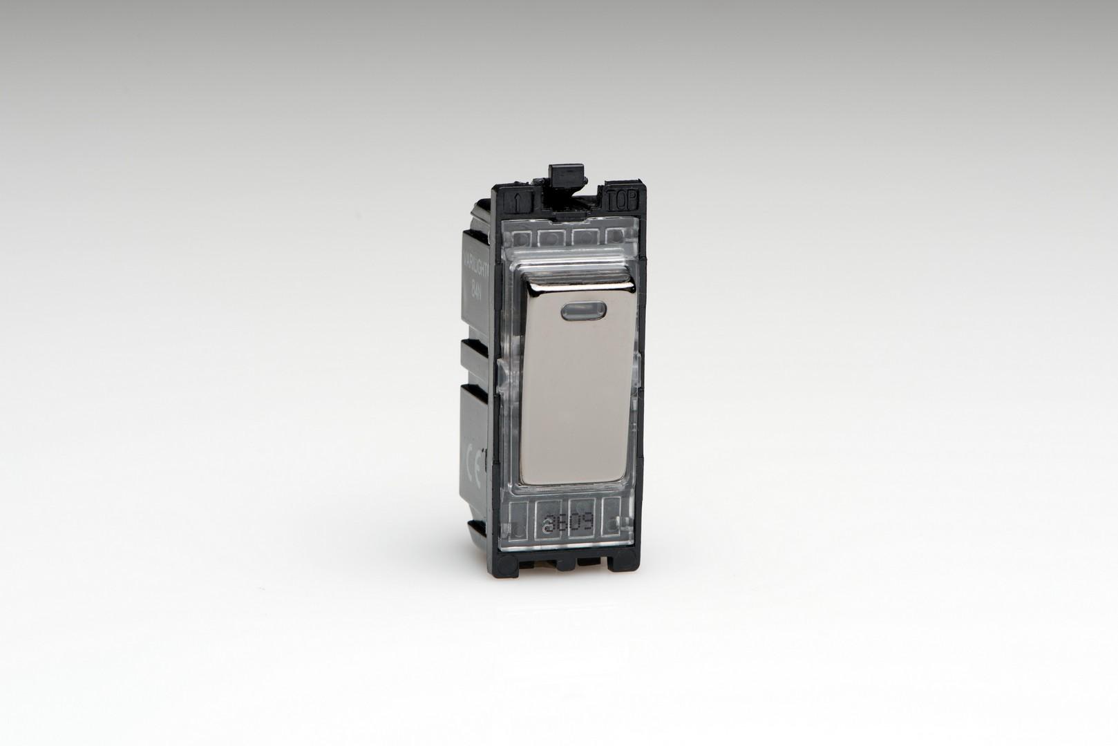 Iridium Black 20A 1-Way Double Pole Switch + Neon Module - Switch ...