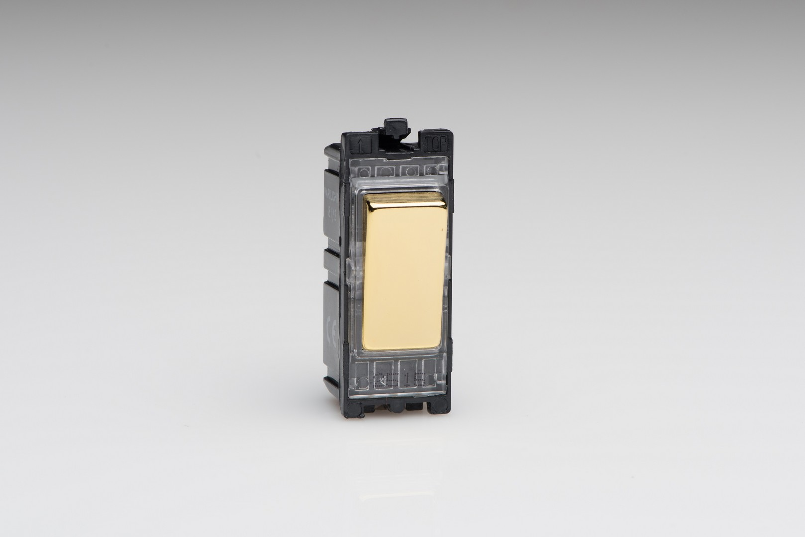Polished Brass 20A 1-Way Double Pole Switch Module - Switch Socket ...