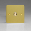 Ultraflat Brushed Brass 1-Gang 6A 1- or 2-Way Push-On/Off Impulse Switch
