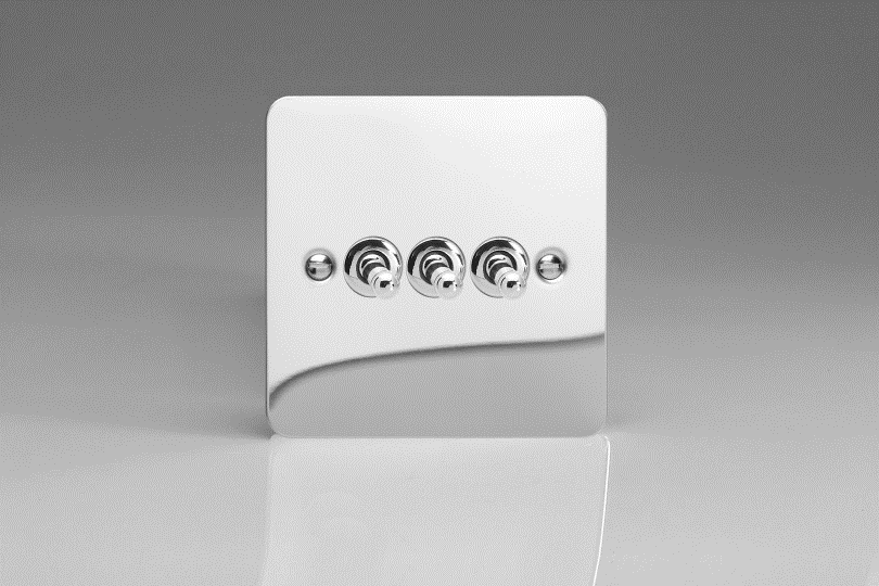 Miraculous Ultraflat Polished Chrome 3 Gang 10A 1 Or 2 Way Toggle Switch Wiring Cloud Peadfoxcilixyz